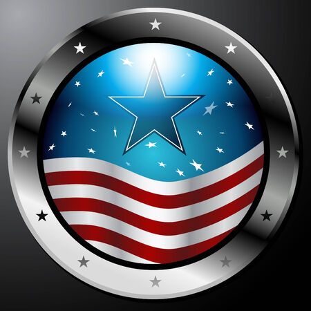 An image of an American Flag button.