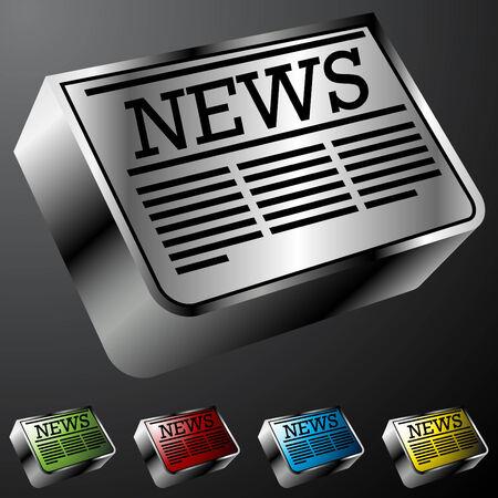 newspaper headline: An image of newspaper buttons.