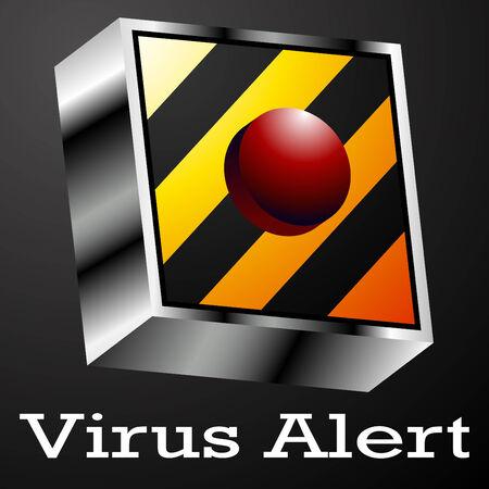 virus alert: An image of a virus alert button.