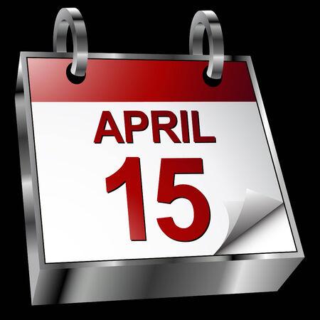 An image representing a tax deadline calendar.