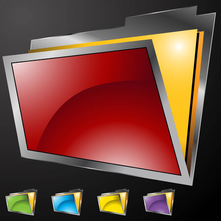 An image of 3d file folders. Stock Vector - 7944368