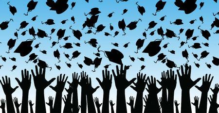 diplom studen: Ein Abbild der Absolventen.