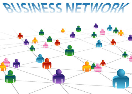 Een afbeelding van een zakelijk netwerk.