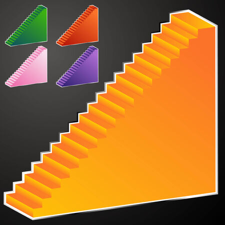 An image of a glowing staircase. Stock Vector - 7944384