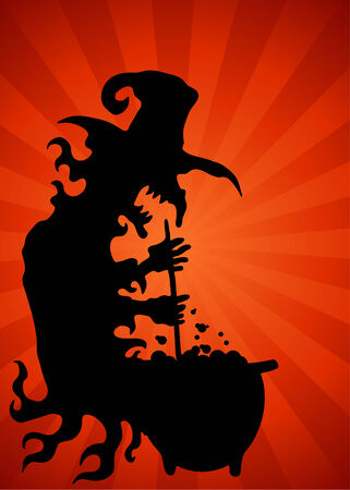 An image of a with with cauldron background.
