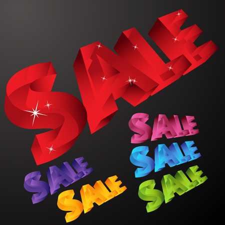 An image of 3d sale icons. Stock Vector - 7944416