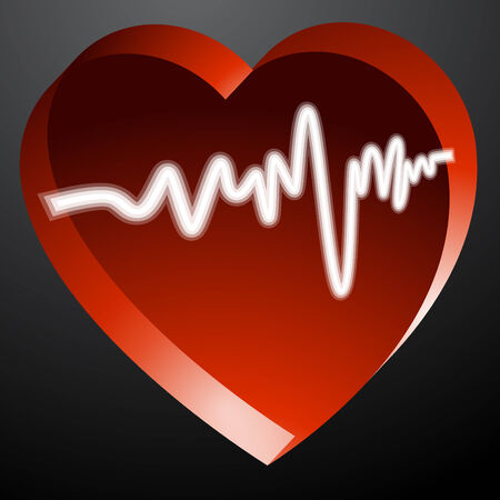 An image of a 3d heart monitor pulse. Stock Vector - 7945442