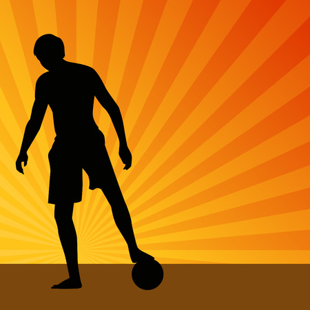An image of a soccer player. Vector