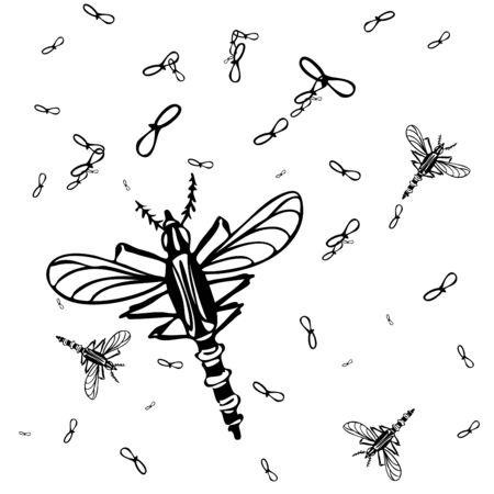 An image of a mosquito background. Vector