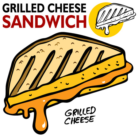white cheese: An image of a Grilled Cheese Sandwich.