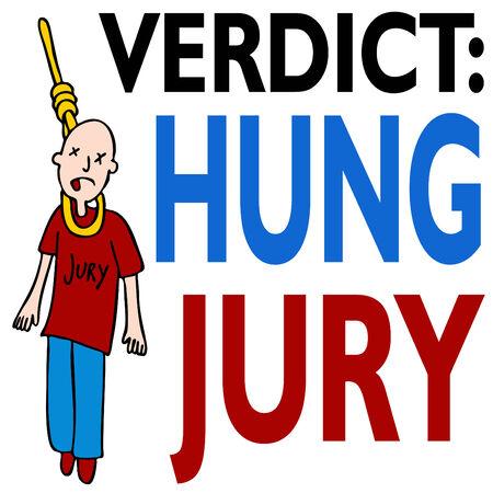 An image representing a hung jury. Stock Vector - 8032313