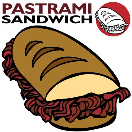 Pastrami Sandwich Vector