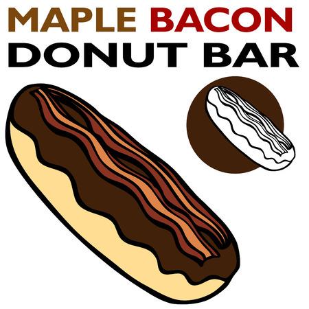Maple Bacon Bar Illustration