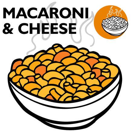 Macarrones y queso  Ilustración de vector