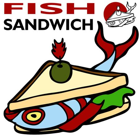 Fish Sandwich Ilustrace