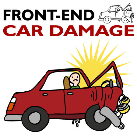 Front End Car Damage 向量圖像