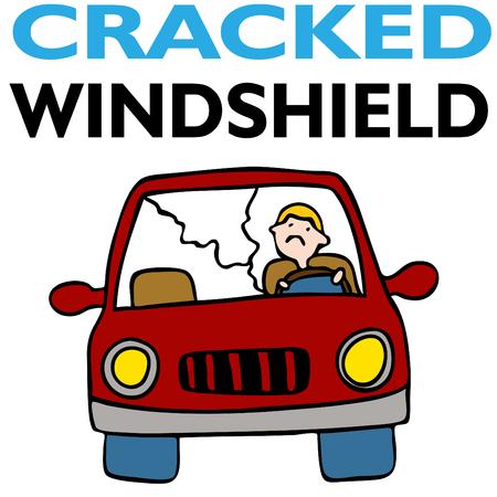 damage: Cracked Windshield Illustration