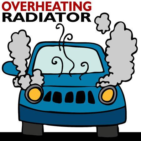 radiador: Sobrecalentamiento del radiador  Vectores