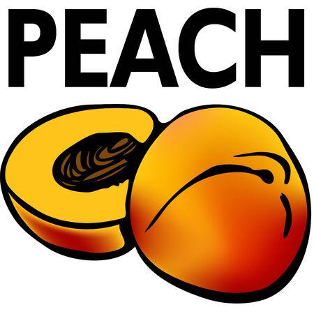 An image of a cut peach.
