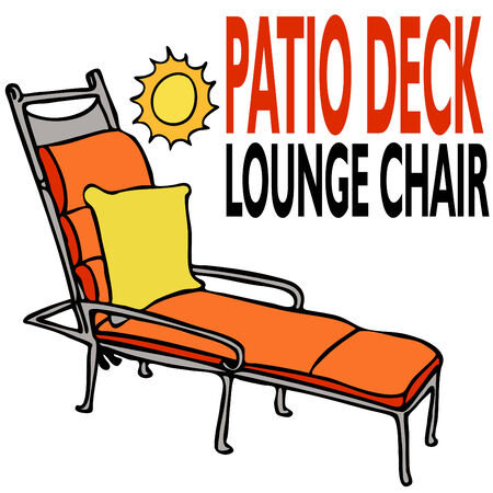 An image of a patio deck lounge chair. Stock Vector - 8058177