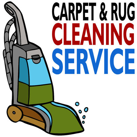 An image of carpet cleaning service. Vector