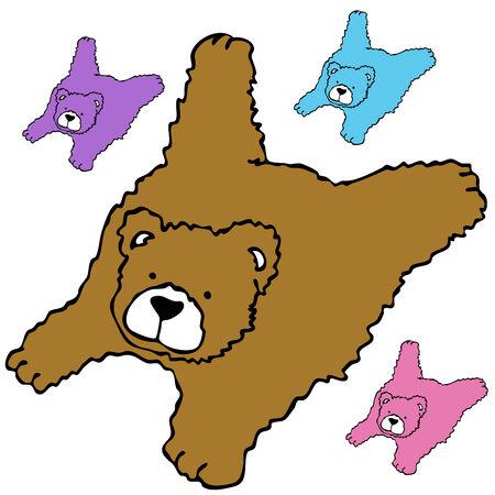 bearskin: An image of a bearskin rug.