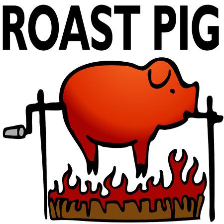 arrosto: L'immagine di un maiale arrostito.