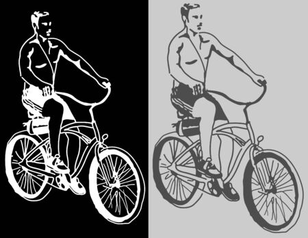 An image of a beach cruiser. Vector
