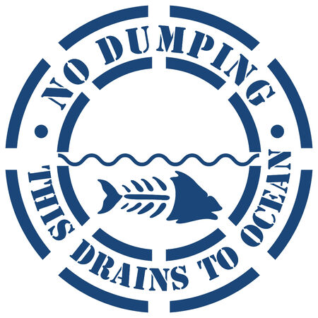 drain: An image of a no dumping sign.