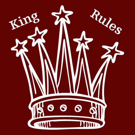An image of a crown with text  Stock Vector - 8130367