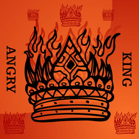 royal person: An image representing an angry king. Illustration