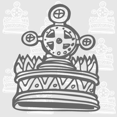 An image of a cross crown. Illustration