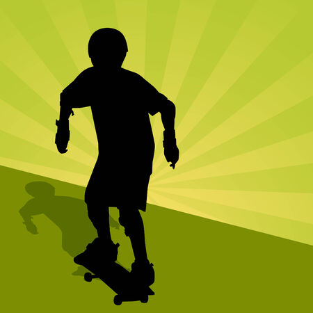 skateboarder: An image of a child riding a skateboard.