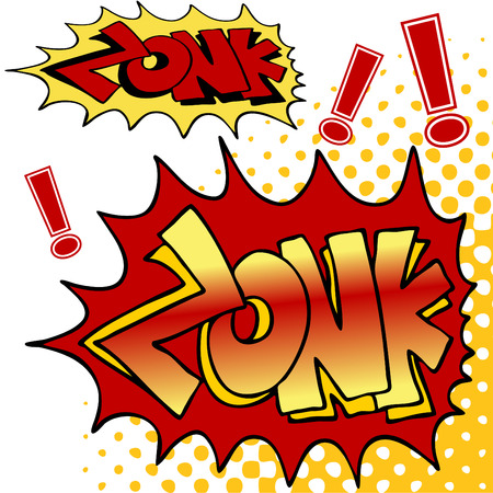 exclamation point: An image of zonk comic book text. Illustration