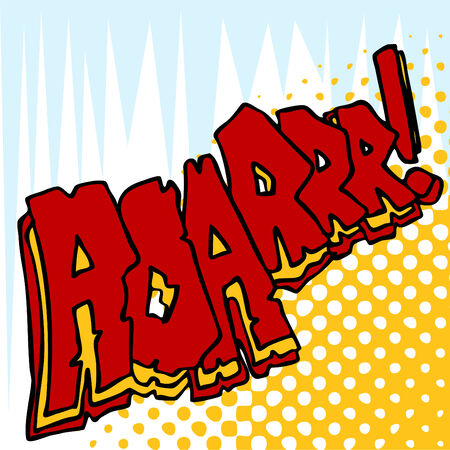 An image of angry roar sound effect text.  イラスト・ベクター素材