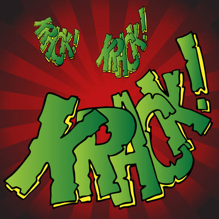 An image of comic book breaking krack text effect. Stock Vector - 8130373