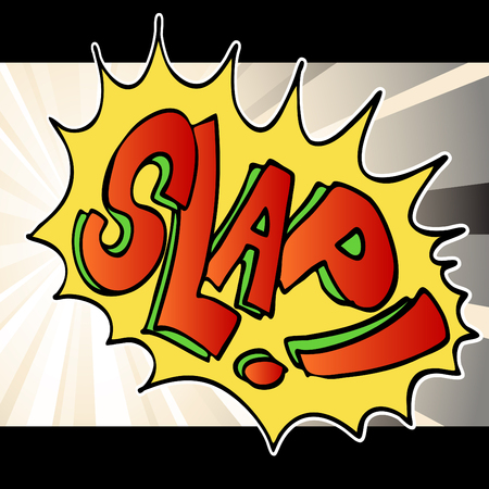 An image of comic book slap noise text background. Stock Vector - 8130371