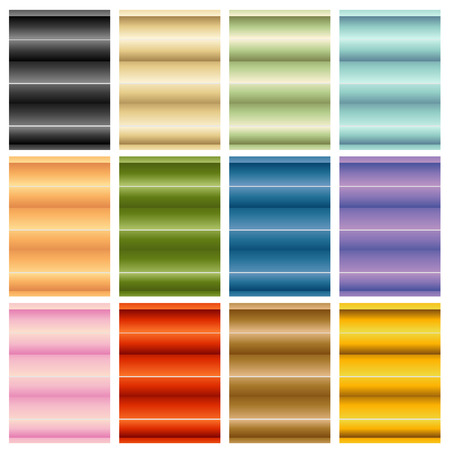 swatches: An image of window blinds shades set. Illustration