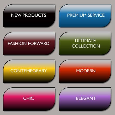 art product: An image of a stylish communication fashion buttons.