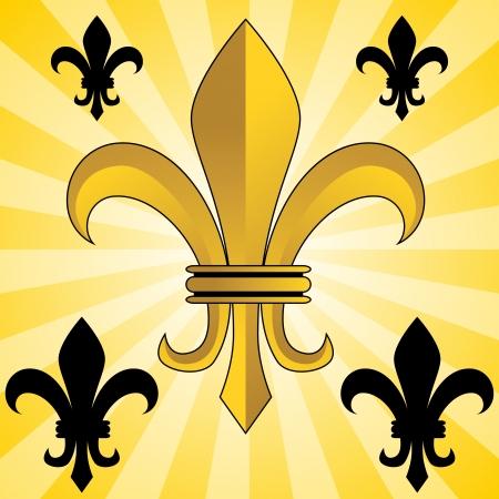 hanedan: An image of a glowing gold fleur de lis symbol.