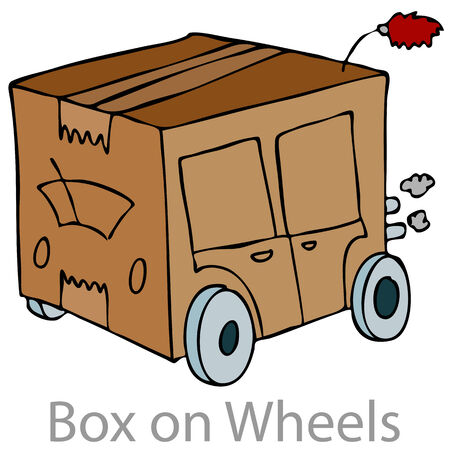 An image of a cardboard box car. Stock Vector - 8512577