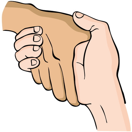 An image of a handshake. Vector