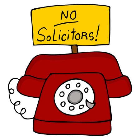 not: Una imagen de un tel�fono con un ning�n signo de abogados.