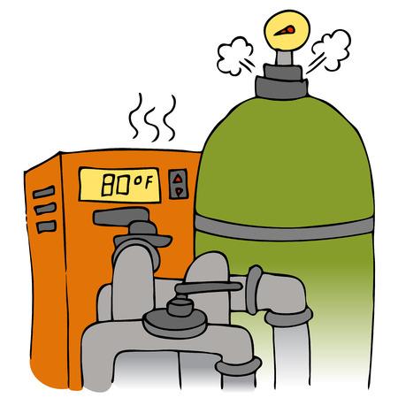 filtraci�n: Una imagen de una bomba de piscina y equipos de calefacci�n.