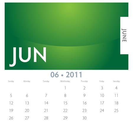 An image of a 2011 June calendar.