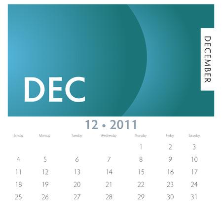 An image of a 2011 December calendar.