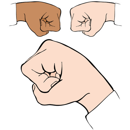 bumps: An image of a fist bump handshake.