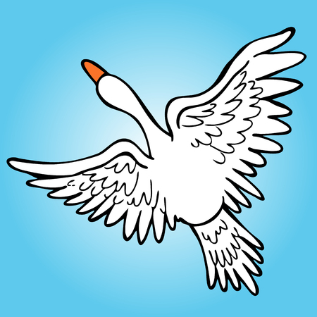 An image of a goose flying in the sky. Zdjęcie Seryjne - 8610258