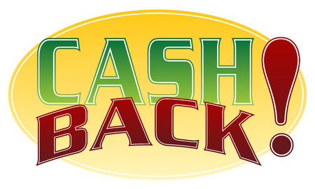 An image of a cash back message. Stock Vector - 8615139
