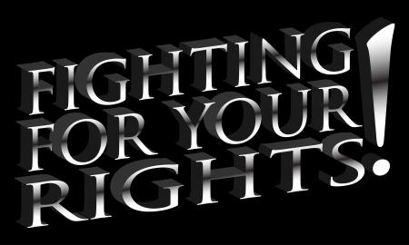 derechos humanos: Una imagen de una lucha por su mensaje de derechos.